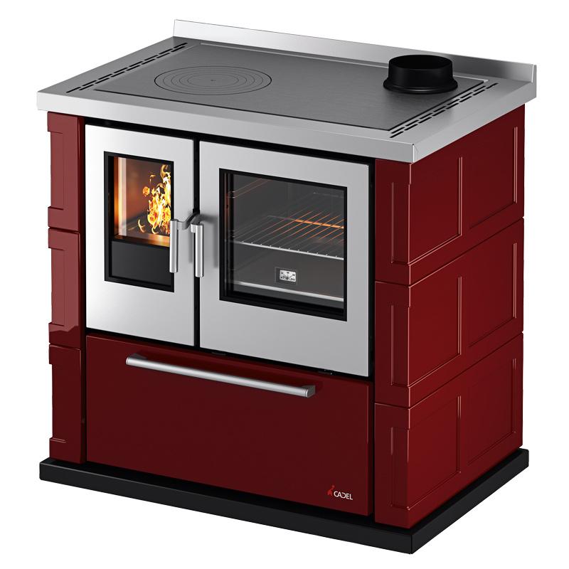 Cucina a Legna Cadel KOOK 87 7,5 Kw - Calor Store - stufe camini e ...