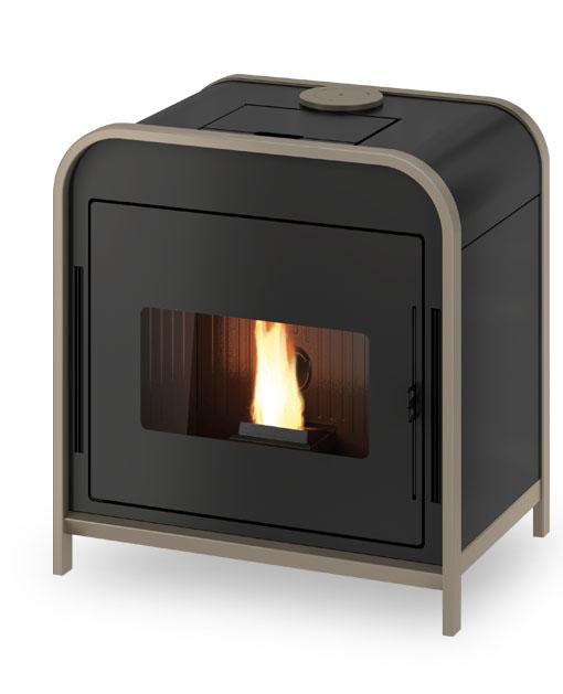 Stufa a Pellet Design Frame3 - Calor Store - stufe camini e canne ...